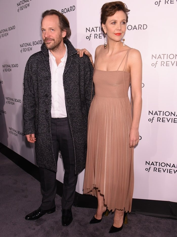 Maggie Gyllenhaal with her husband Peter Sarsgaard at the 2019 National Board of Review Awards Gala