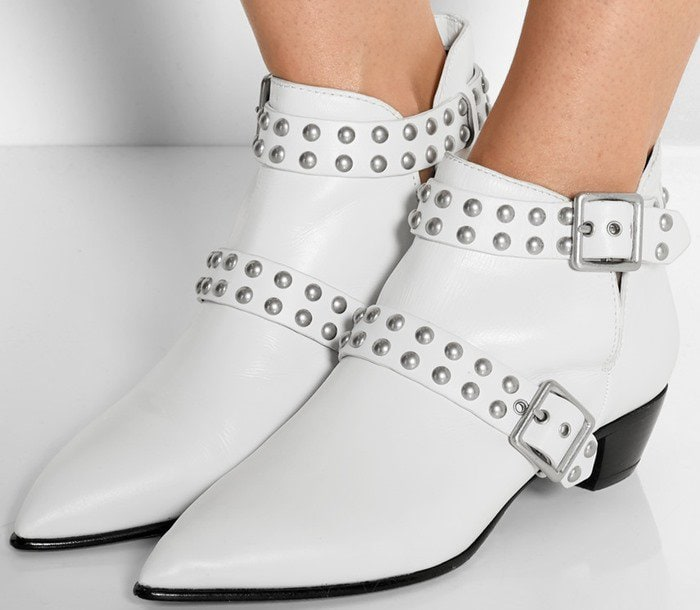 """Marc by Marc Jacobs """"Carroll"""" Studded Leather Ankle Boots"""