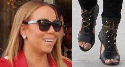 c143f21f34d Mariah Carey s Sexy Feet and Nude Legs in Hot High Heels