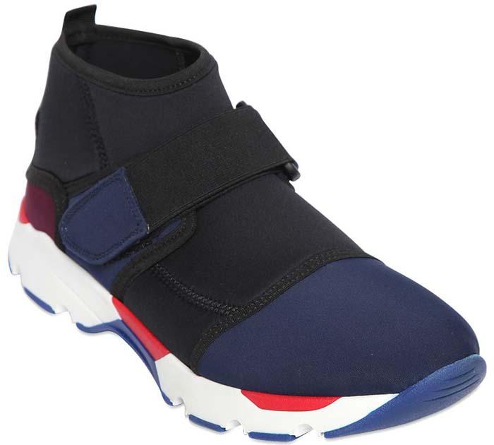 Marni Neoprene Strap Slip On Sneakers