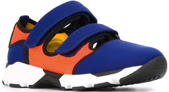 Marni Velcro Sneakers Blue Orange