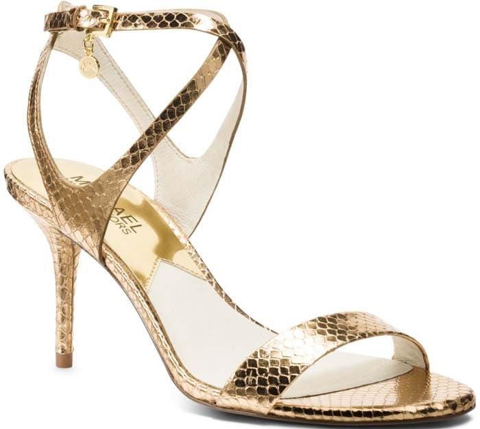 "Michael Michael Kors ""Kaylee"" Metallic Sandal Heels"