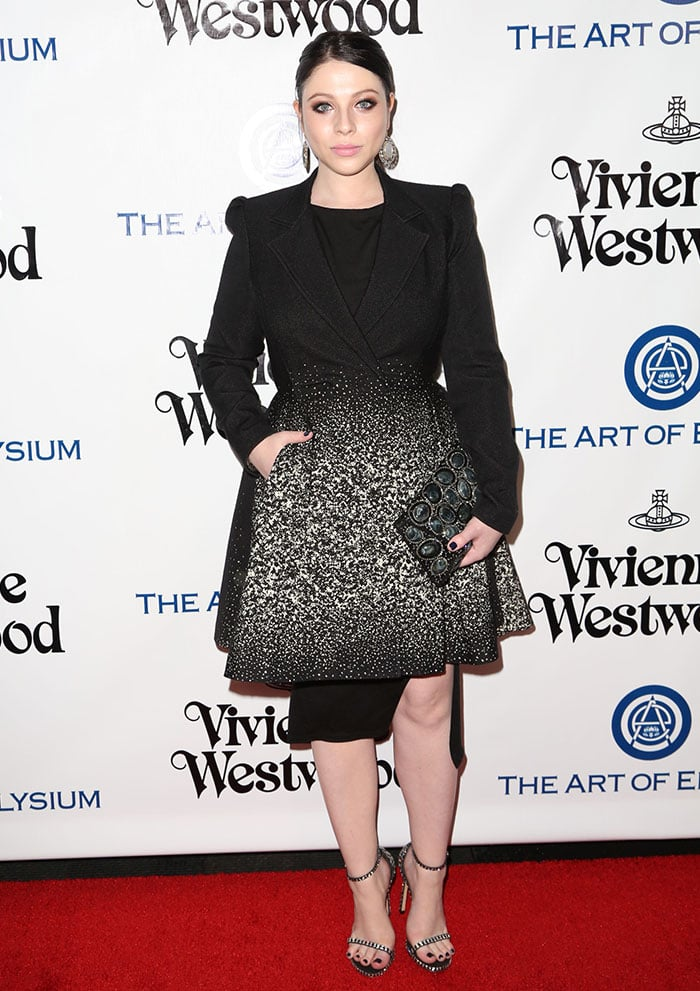 Michelle Trachtenberg wears her hair back at The Art of Elysium 2016 HEAVEN Gala presented by Vivienne Westwood & Andreas Kronthaler at 3LABS