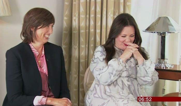 Miranda Hart and Melissa McCarthy promoting their film Spy on BBC Breakfast
