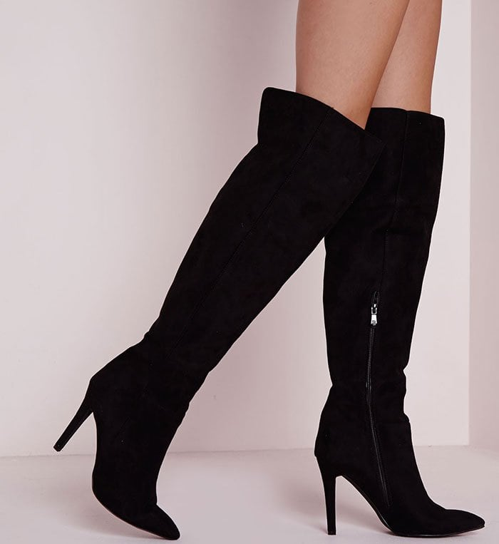 Missguided Knee-High Stiletto Boots