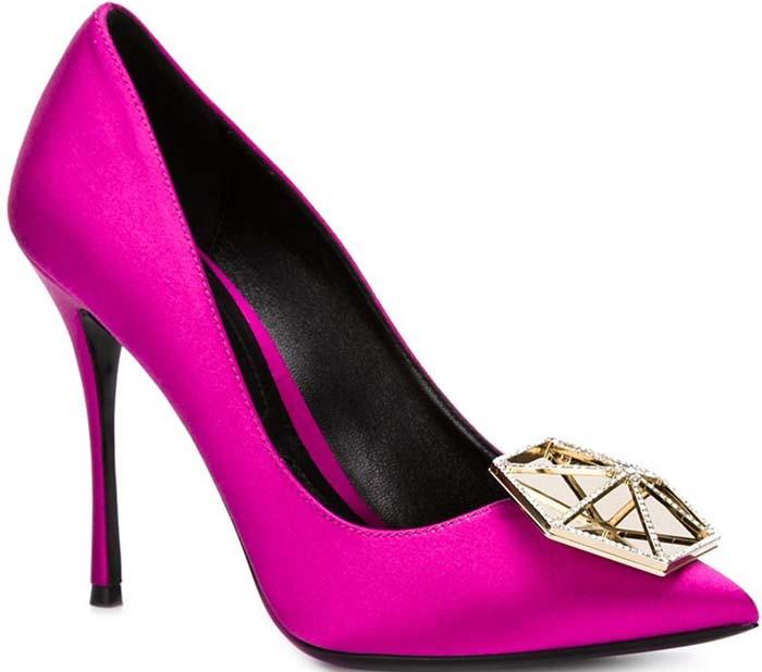 Nicholas Kirkwood Eden Crystal-Embellished Satin Pumps Pink