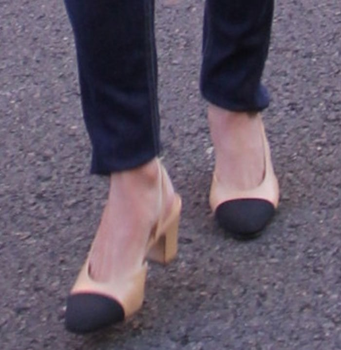 Nicky Hilton's popular cap-toed Chanel slingbacks were designed in 1957 by Coco Chanel