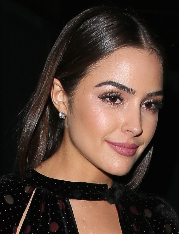 Olivia Culpo arriving at Craig's restaurant in Los Angeles on January 11, 2016
