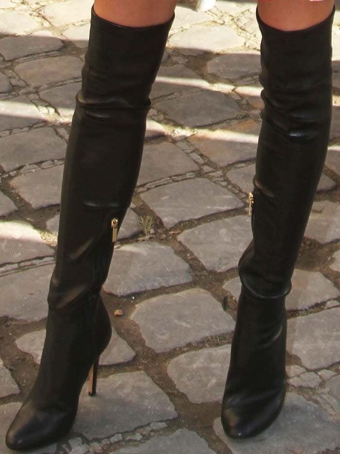 Olivia Palermo's Toni over-the-knee boots from Jimmy Choo