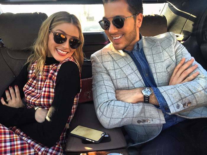 Olivia Palermo even got her friend, stylist and event designer Lucas Somoza, in on her square craze