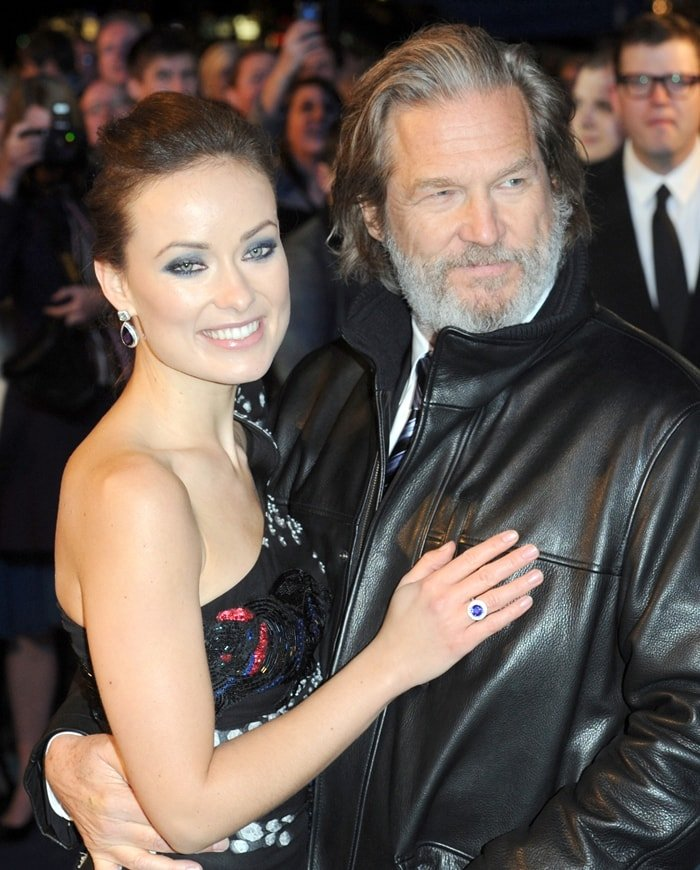 Actors Olivia Wilde and Jeff Bridges attend the UK premiere of 'Tron: Legacy'