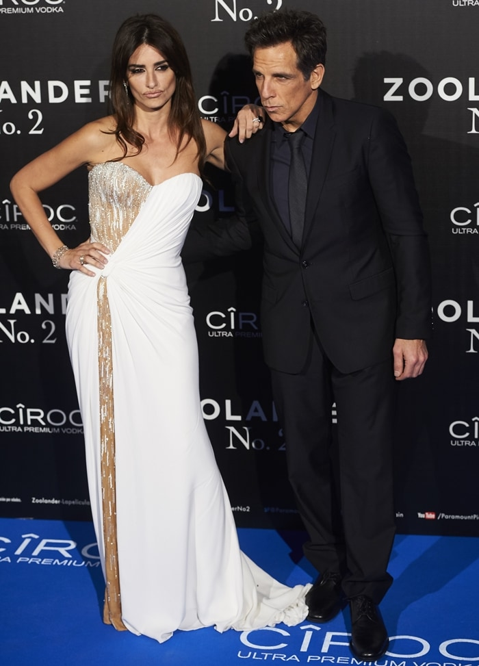 Penelope Cruz and Ben Stiller attend the Madrid Fan Screening of the Paramount Pictures film 'Zoolander No. 2'