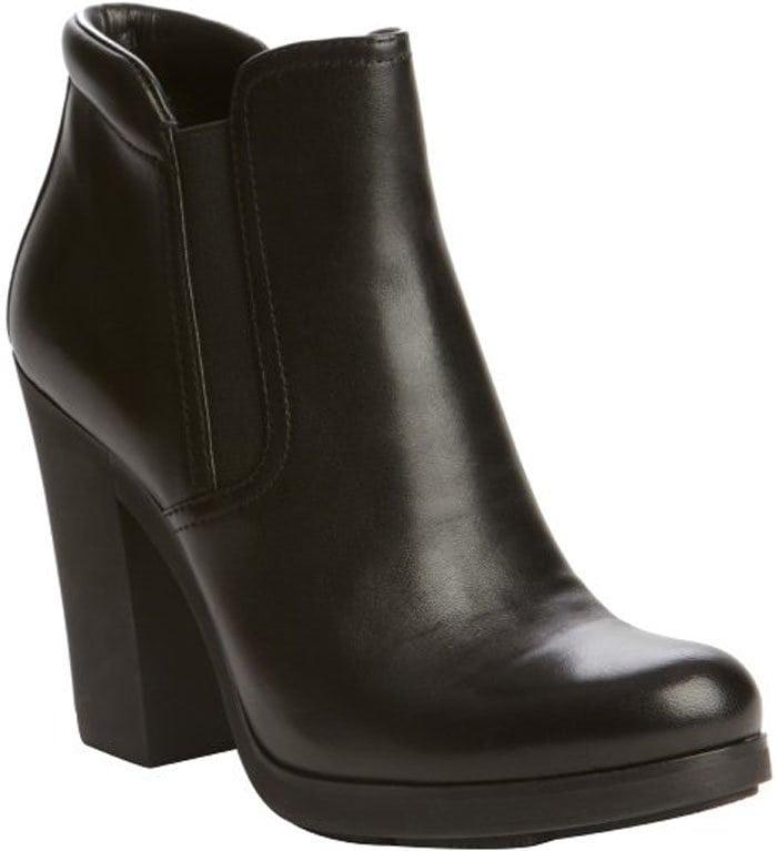 Prada Sport Black Leather Ankle Booties