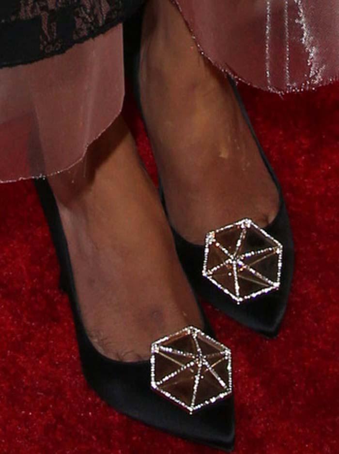 Priyanka Chopra's feet in embellished Nicholas Kirkwood pumps