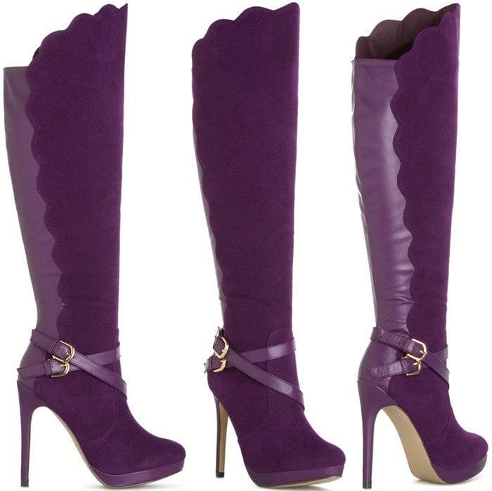 Purple Knee-High Boots