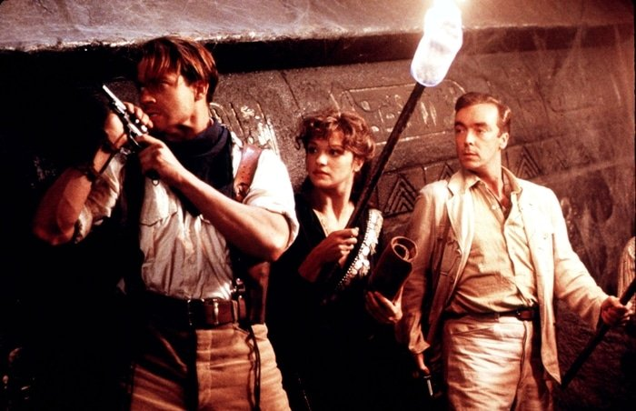 Rachel Weisz was 28-years-old when filming The Mummy with John Hannah and Brendan Frazer
