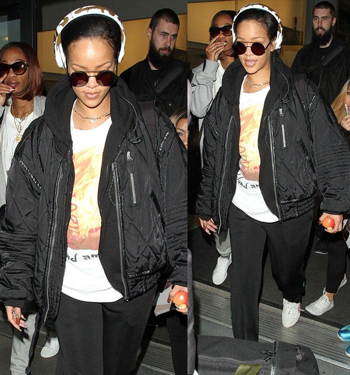 Rihanna-airport-look