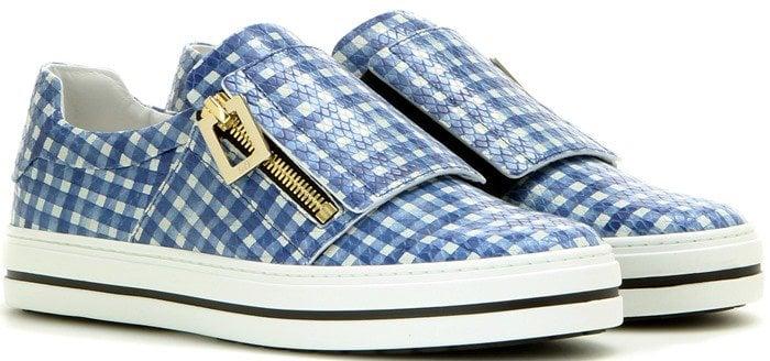 Roger Vivier Sneaky Viv blue leather sneakers