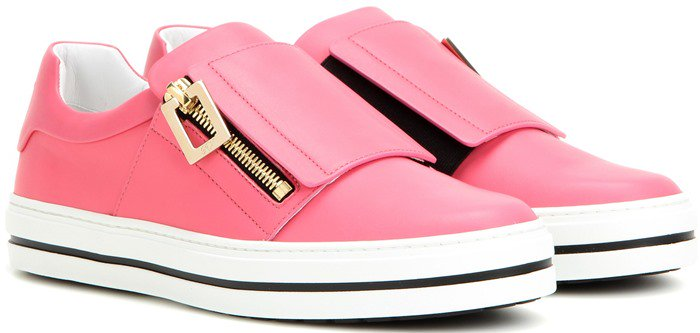 Roger Vivier Sneaky Viv pink leather sneakers