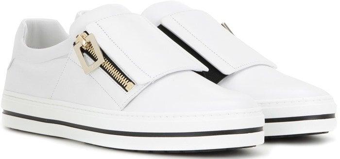 Roger Vivier Sneaky Viv zip pull leather sneakers