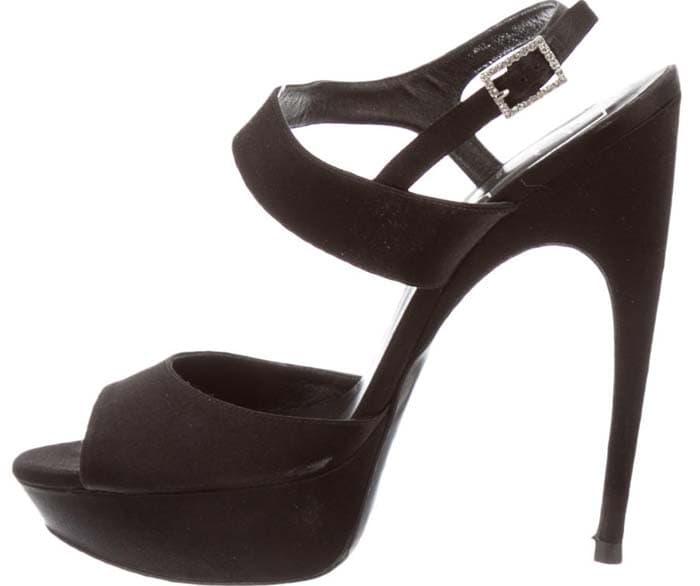 Roger Vivier Suede Platform Sandals