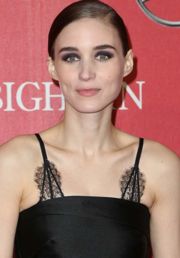Rooney Mara wears her hair back at the 27th Annual Palm Springs International Film Festival