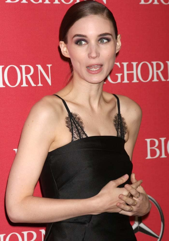 Rooney Mara PSIFF Pointed Toe Pumps 4