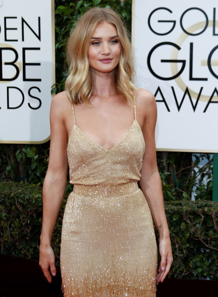73rd Annual Golden Globe Awards - Arrivals Featuring: Rosie Huntington-Whiteley Where: Los Angeles, California, United States When: 10 Jan 2016 Credit: WENN.com **Not available for publication in Germany**