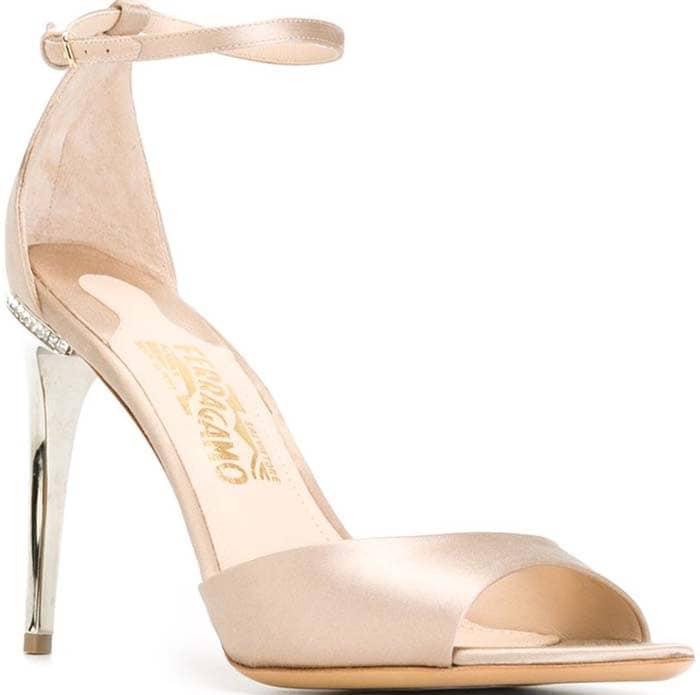 Salvatore Ferragamo Satin Ankle Strap Sandals