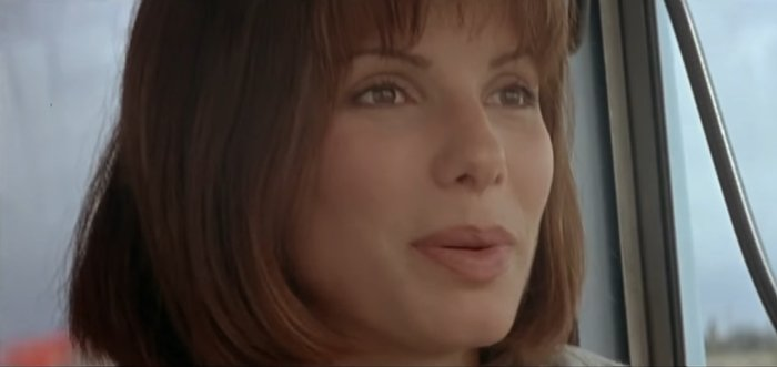 Sandra Bullock as Annie Porter in the 1994 American action thriller film Speed