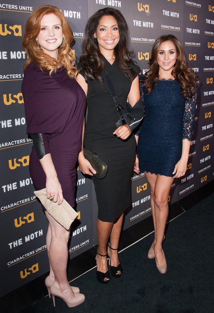Sarah Rafferty, Gina Torres, and Meghan Markle