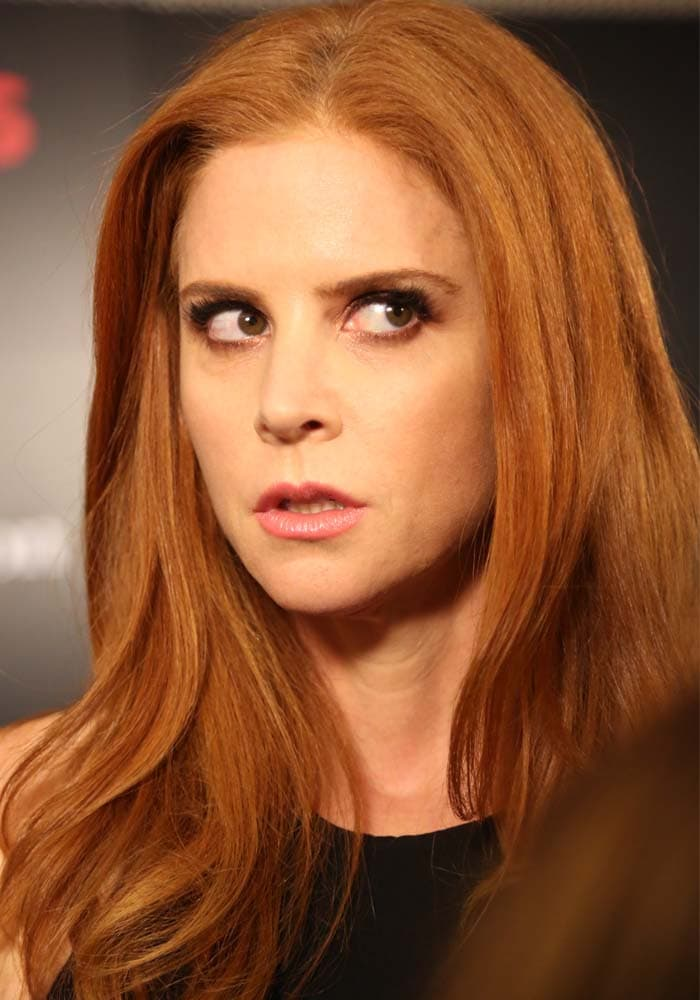 """Sarah Rafferty wears her red hair down at the season premiere of """"Suits"""""""