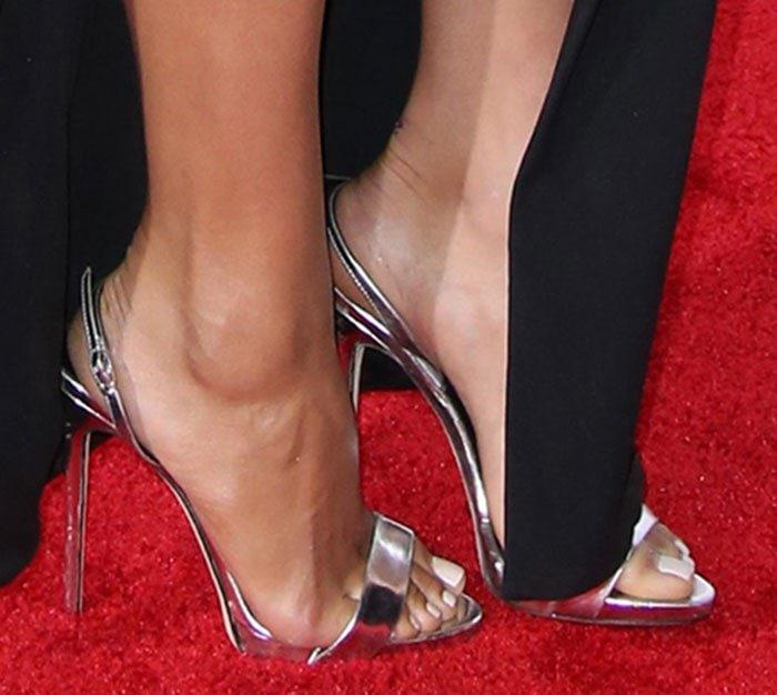 Shay Mitchell's sexy feet inGiuseppe Zanotti Sophie sandals
