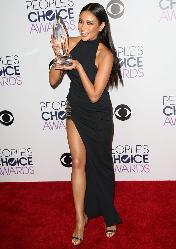 Shay Mitchell at People's Choice Awards 2016 held at the Microsoft Theatre L.A. Live in Los Angeles on January 6, 2016