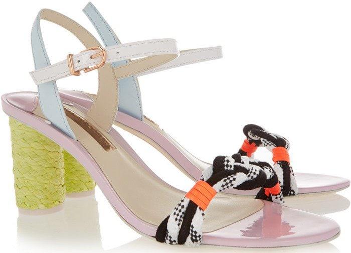 Sophia Webster Atlanta Pastel leather and rope sandal