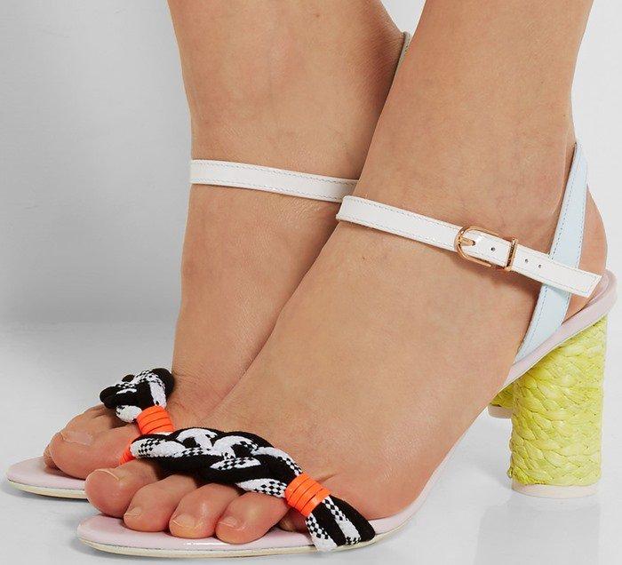 Sophia Webster Atlanta Pastel leather and rope sandals