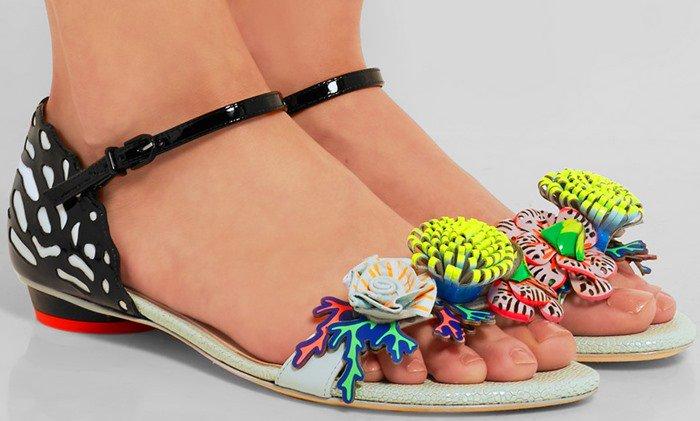 Sophia Webster Lilico Underwater appliqued leather sandal