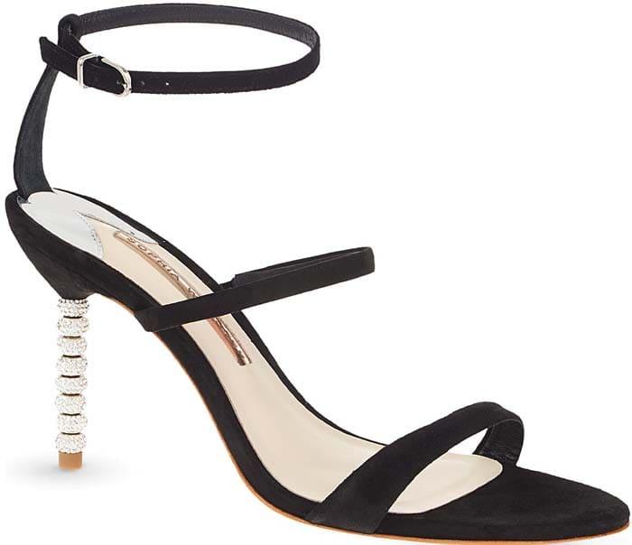 """Sophia Webster """"Rosalind"""" Crystal-Embellished Suede Leather Sandals"""