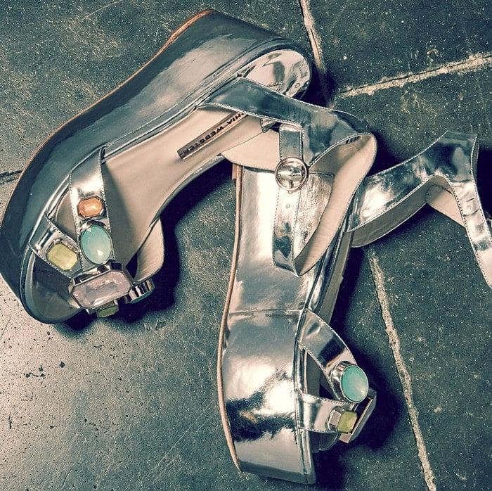 Sophia Webster Suki Metallic Gem Sandal