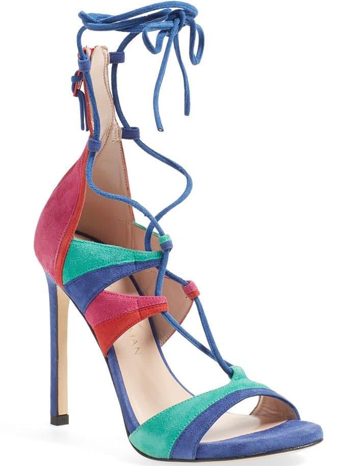 SStuart Weitzman Leg Wrap Lace-Up Sandals