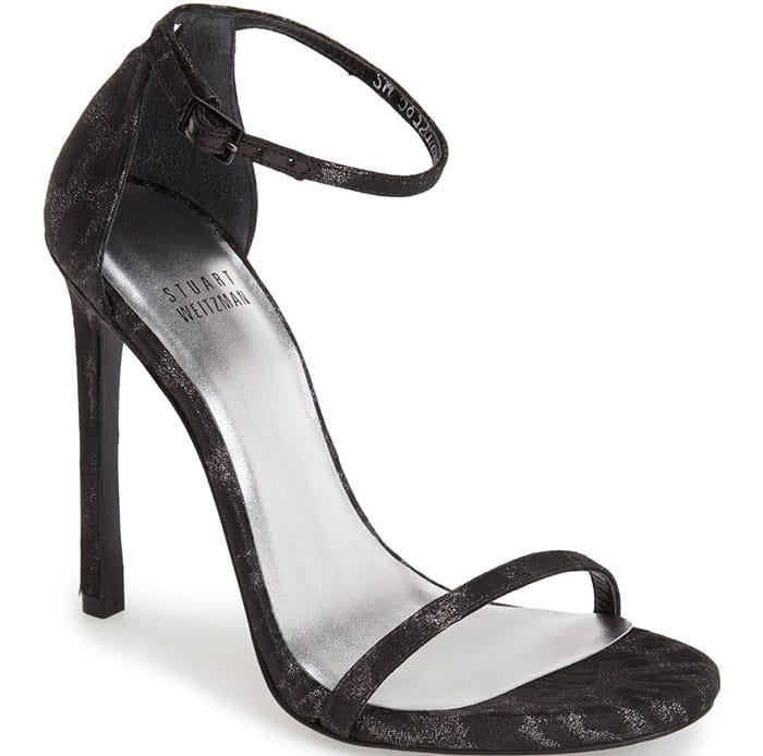 Stuart Weitzman Nudist Ankle-Strap Sandals Jacquard