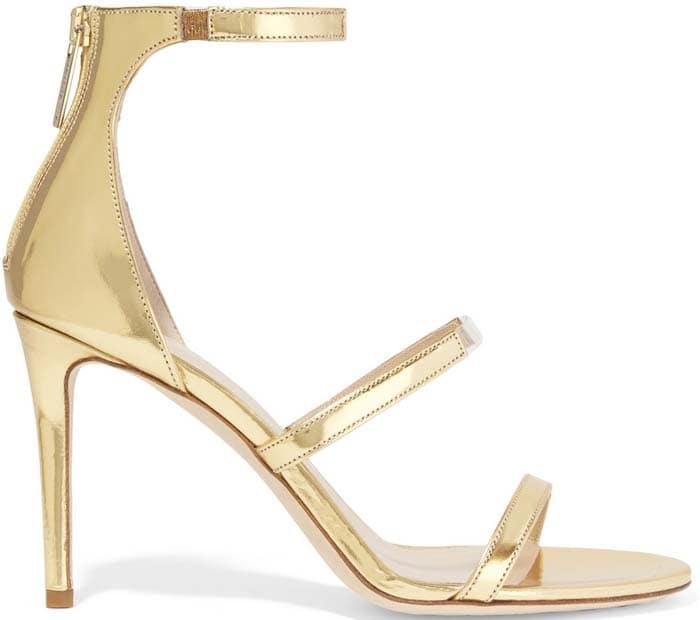 "Tamara Mellon ""Horizon"" Sandals in Gold"