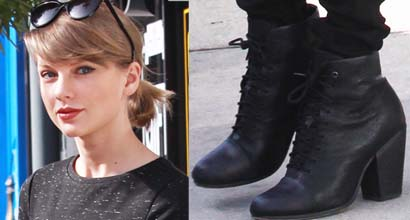 0f7048c0d335d Taylor Swift Wears Two Backless Outfits as She Shops in Rag   Bone  Miles   Boots and Goes on a Date With Calvin Harris