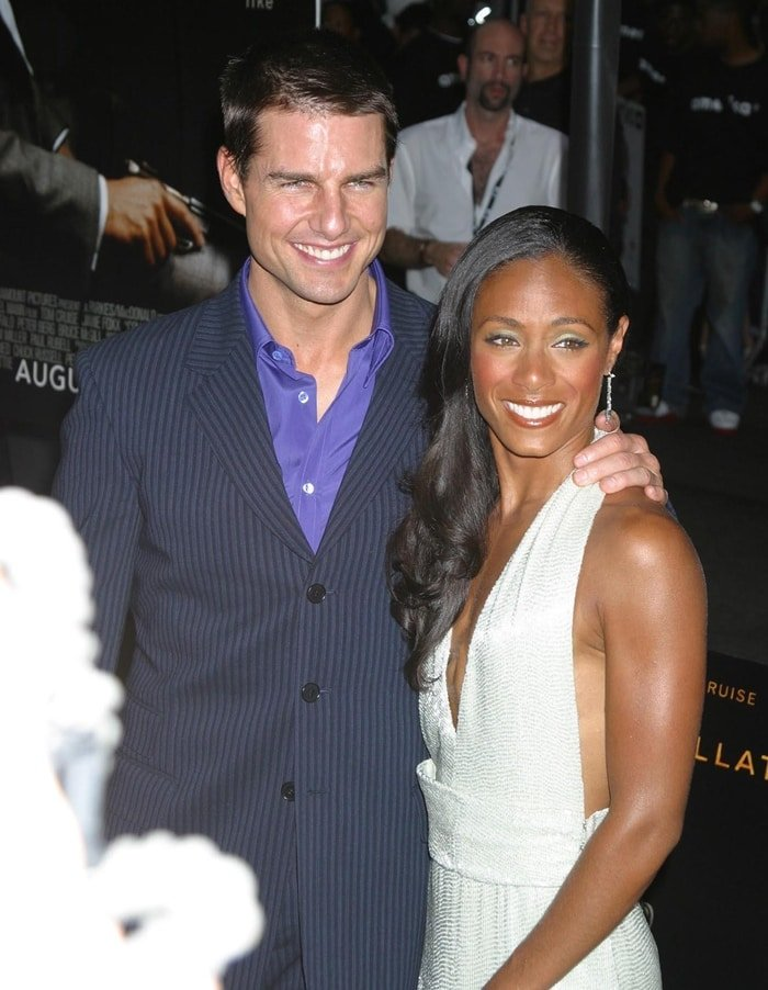 "Actors Tom Cruise and Jada Pinkett Smith attend the New York premiere of their film ""Collateral"""