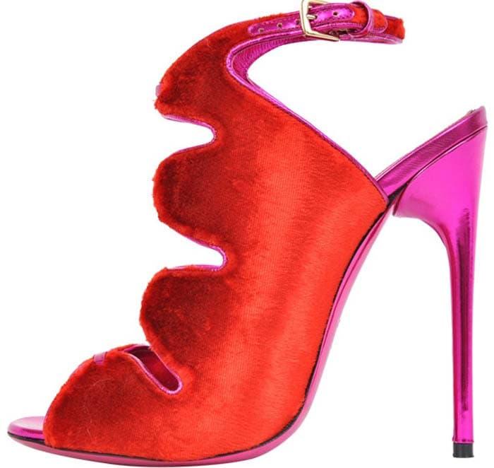 Tom Ford Red Velvet Sandals