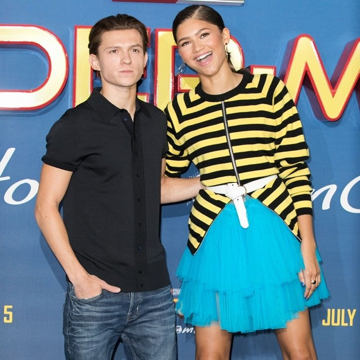 Tom Holland is significantly shorter than his Spider-Man: Homecoming co-star Zendaya