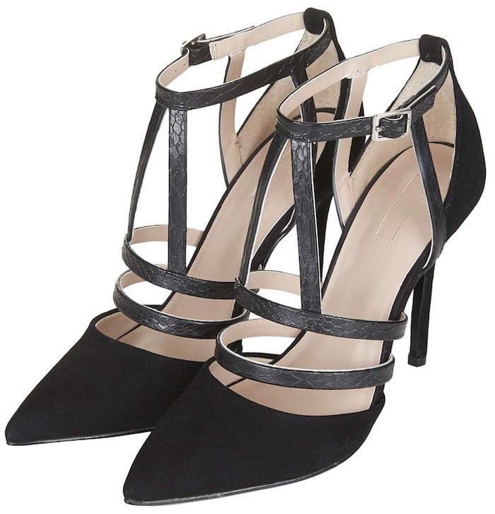 "Topshop ""Geneva"" Strappy Court Shoes"