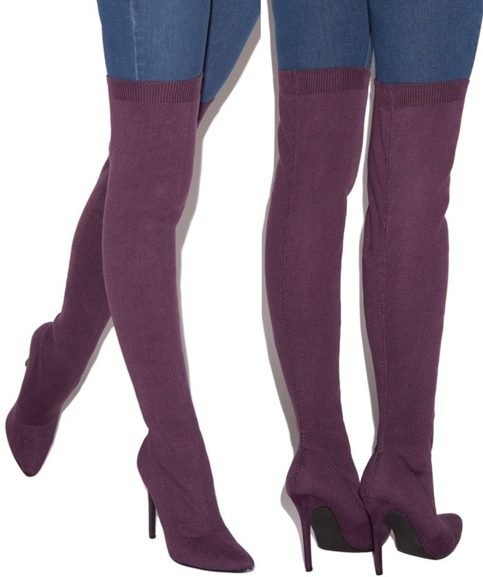 Over-the-Knee 'Veronique' Skin-Tight Boots