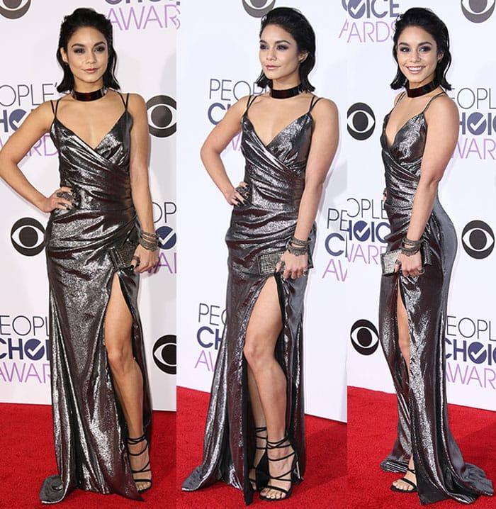 Vanessa-Hudgens-cleavage-legs-Peoples-Choice-Awards-2016