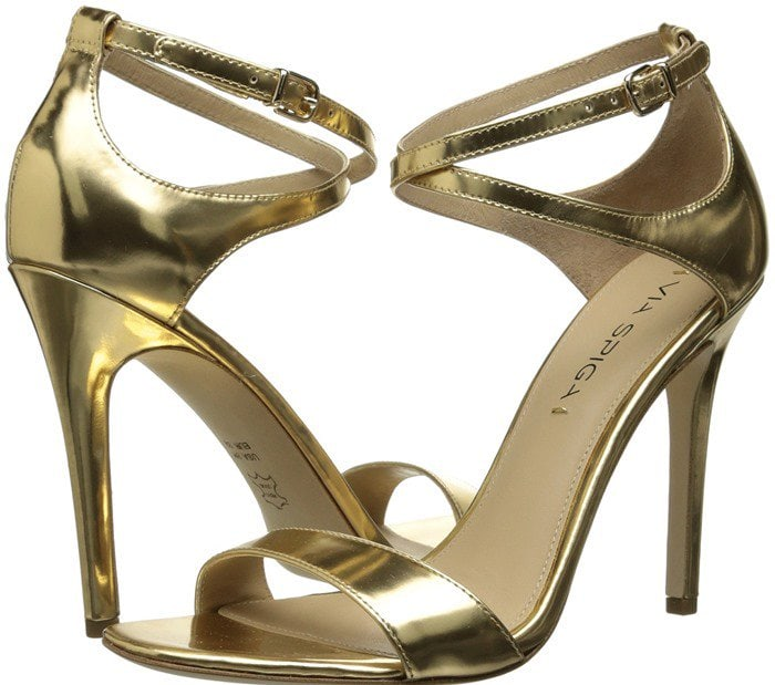 "Via Spiga ""Tiara"" Sandal in Light Gold"